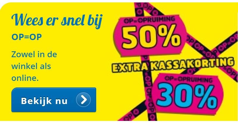 50% extra kassakorting (online en in de winkel) @ Trekpleister