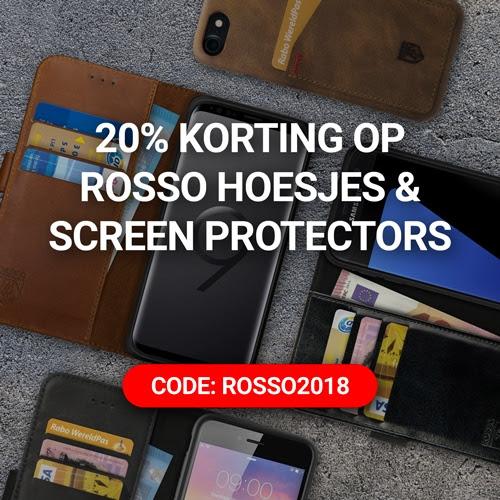 20% korting op alle Rosso hoesjes en screen protectors @ GSMpunt