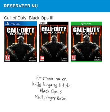 Gratis Call of Duty Black Ops 3 beta code