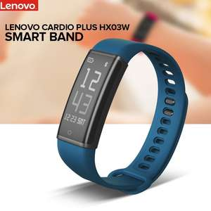 Lenovo Cardio Plus HX03W Smart Bracelet Black voor €16,41 @Aliexpress