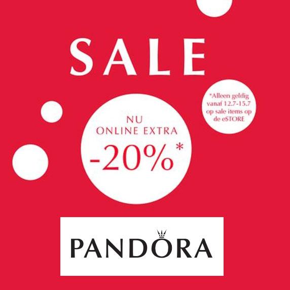 Met code 20% EXTRA korting op sale @ Pandora