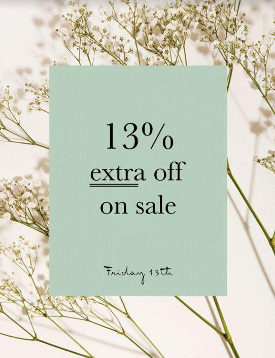 Met code 13% extra korting op sale tot -70% @ We Are Labels