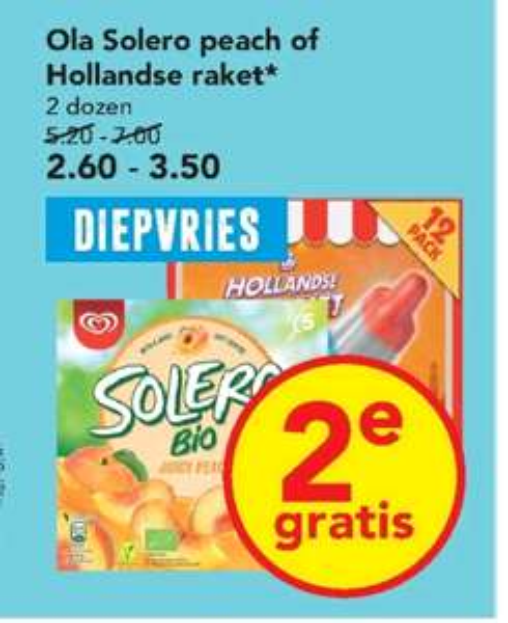 Goedkope Raket en Solero (1+1 gratis) bij Deen