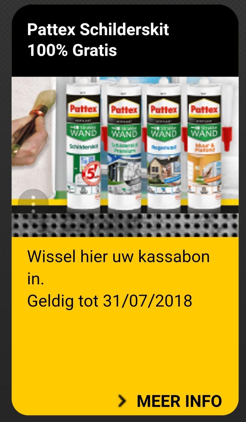 """100% Gratis Actie - Pattex Schilderskit 2018 Refund"""""""