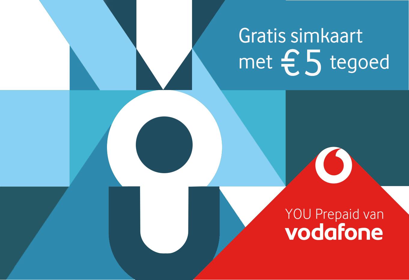 Gratis Vodafone simkaart met € 5.- beltegoed
