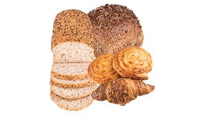 chocoladebroodjes,petit pain, croissant en kaiserbroodjes. 5 voor 1 euro