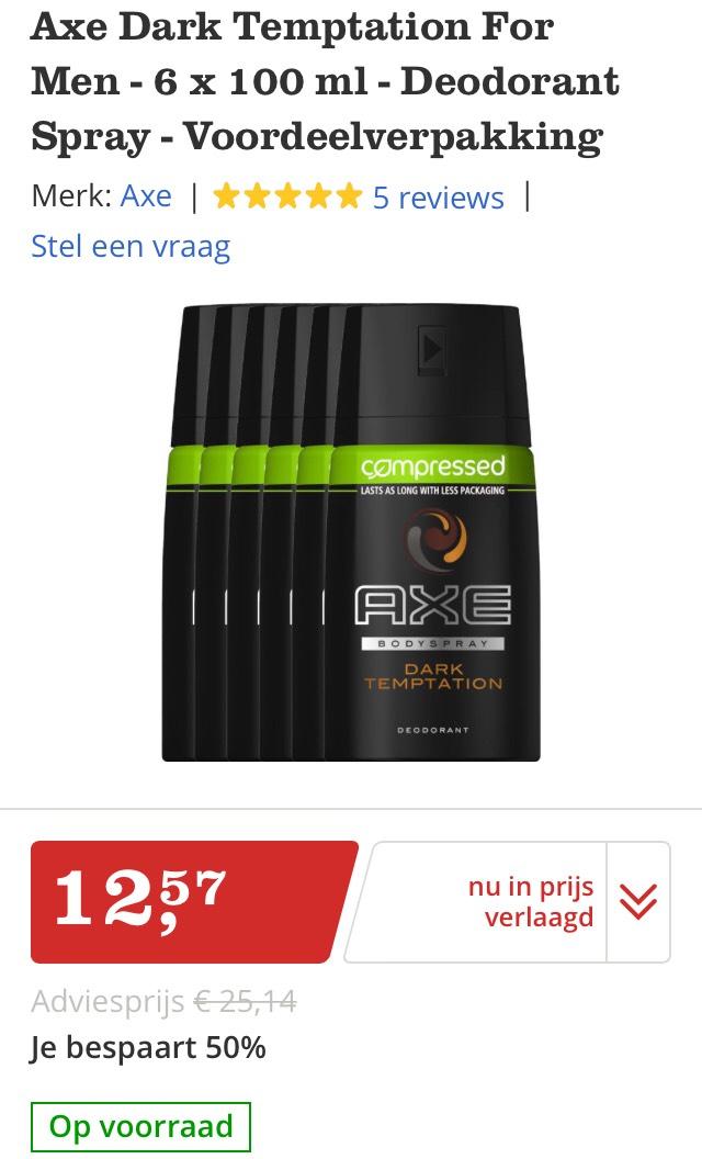 50% korting Axe Deodorant Bol.com