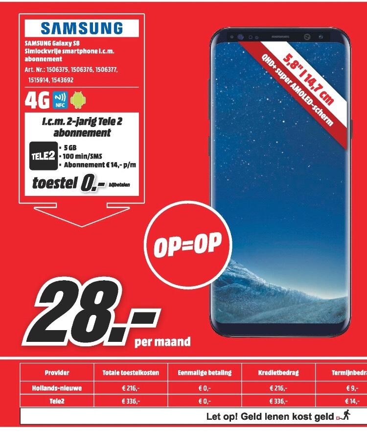 Samsung s8 met Hollands nieuwe abbo