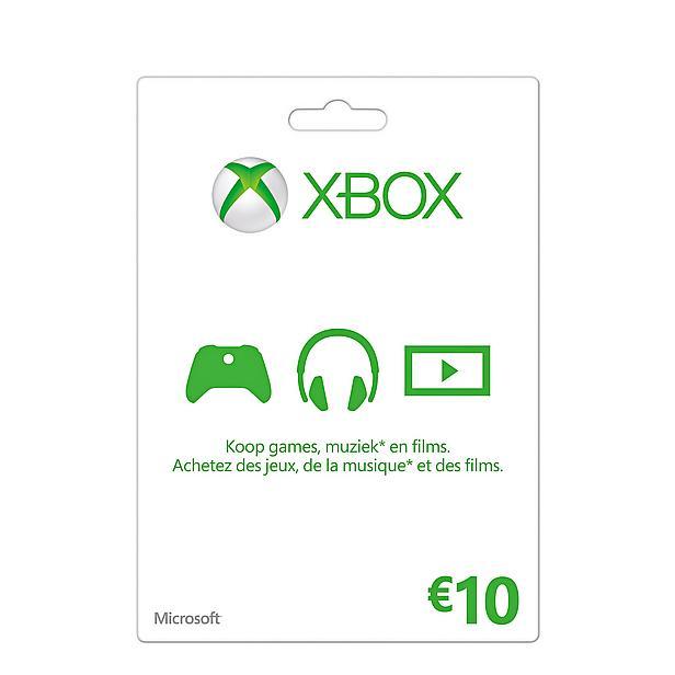 5x Microsoft Xbox Live Gift Card 10 euro voor €39,40 door kortingscode @ Wehkamp