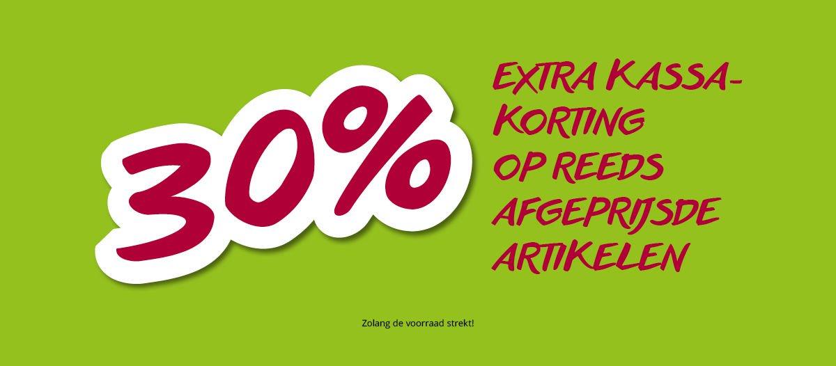 30% extra kassakorting op sale @ Takko (winkels)