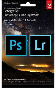 Adobe Creative Cloud Foto (Lightroom + Photoshop CC) - Amazon Prime