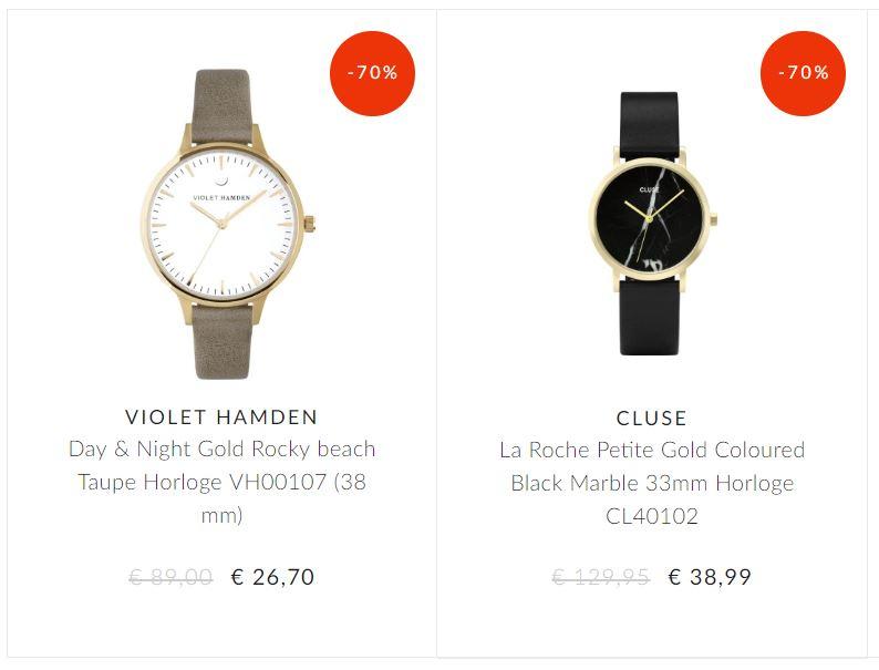 Diverse artikelen (zonnebrillen / horloges / tassen / sieraden) -70% @ Brandfield