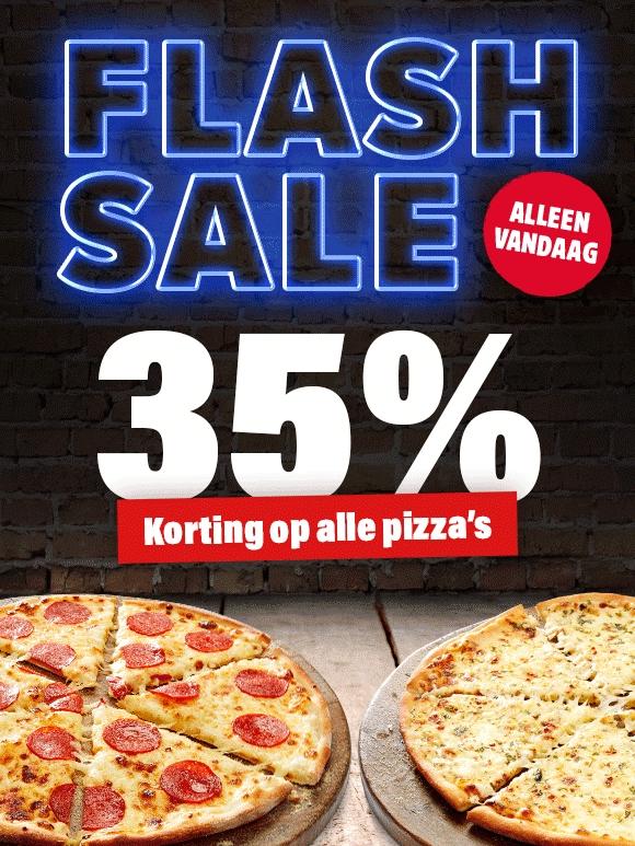 Bij Domino's 35% korting op pizza's met CODE: 30652
