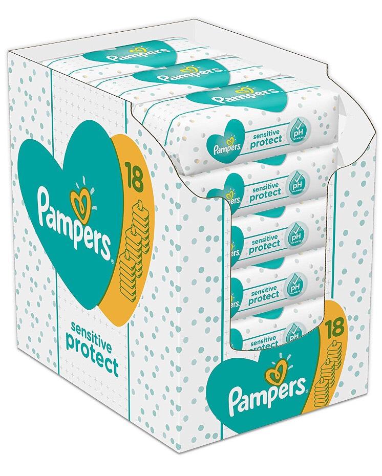 [PRIME] Pampers Sensitive 18x 52 stuks (936)