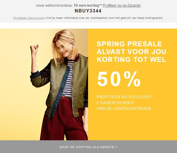 Kortingscode voor €10 korting + Presale tot wel 50% korting @ Zalando