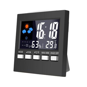 Loskii DC-001 Digitale temperatuur-vochtigheidsklokken LCD-weerstation Weergaveklok