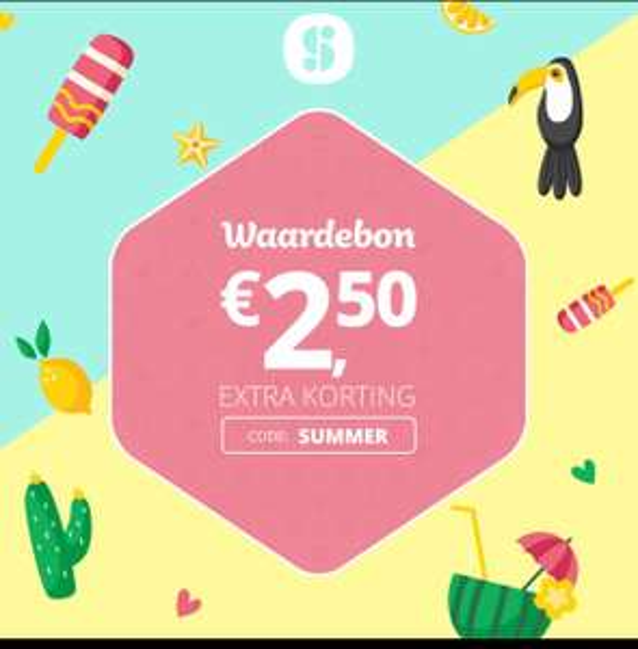 €2,50 korting in de Social Deal App