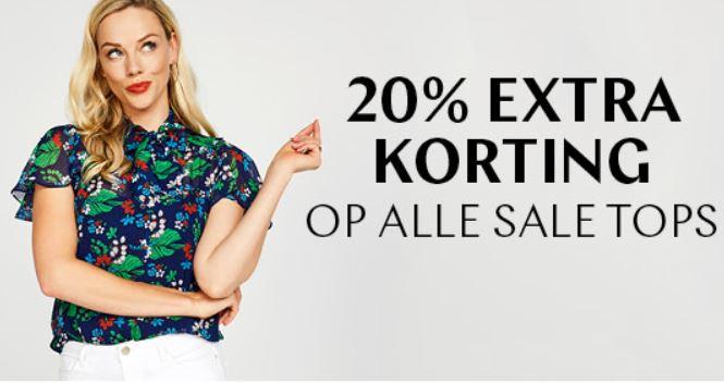Met code 20% EXTRA korting op alle sale tops @ Steps