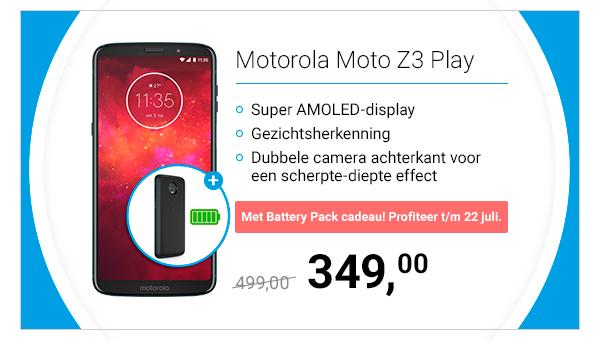 Motorola Moto Z3 Play Blue voor €349 @ Belsimpel