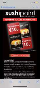 10,- korting Sushipoint Zwolle