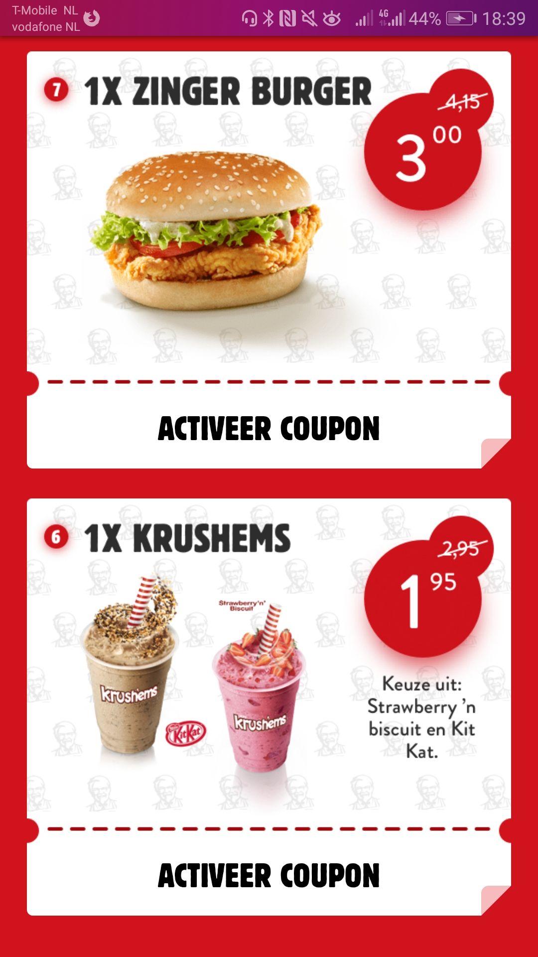 Nieuwe coupons @ KFC (geldig t/m 31 oktober)