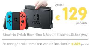 Inruilactie: Nintendo Switch vanaf €129 bij inlevering van je PS4 PRO 1TB, PS4 1TB of PS4 500GB @ Gamemania