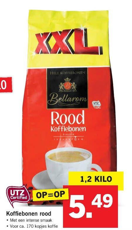 lidl Bellarom koffiebonen  1200 gram voor 5,49