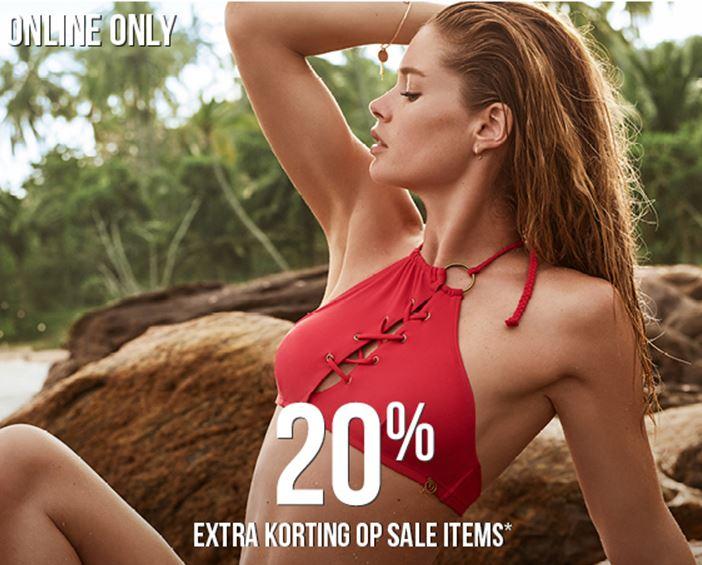 Alle sale 20% EXTRA korting @ Hunkemöller