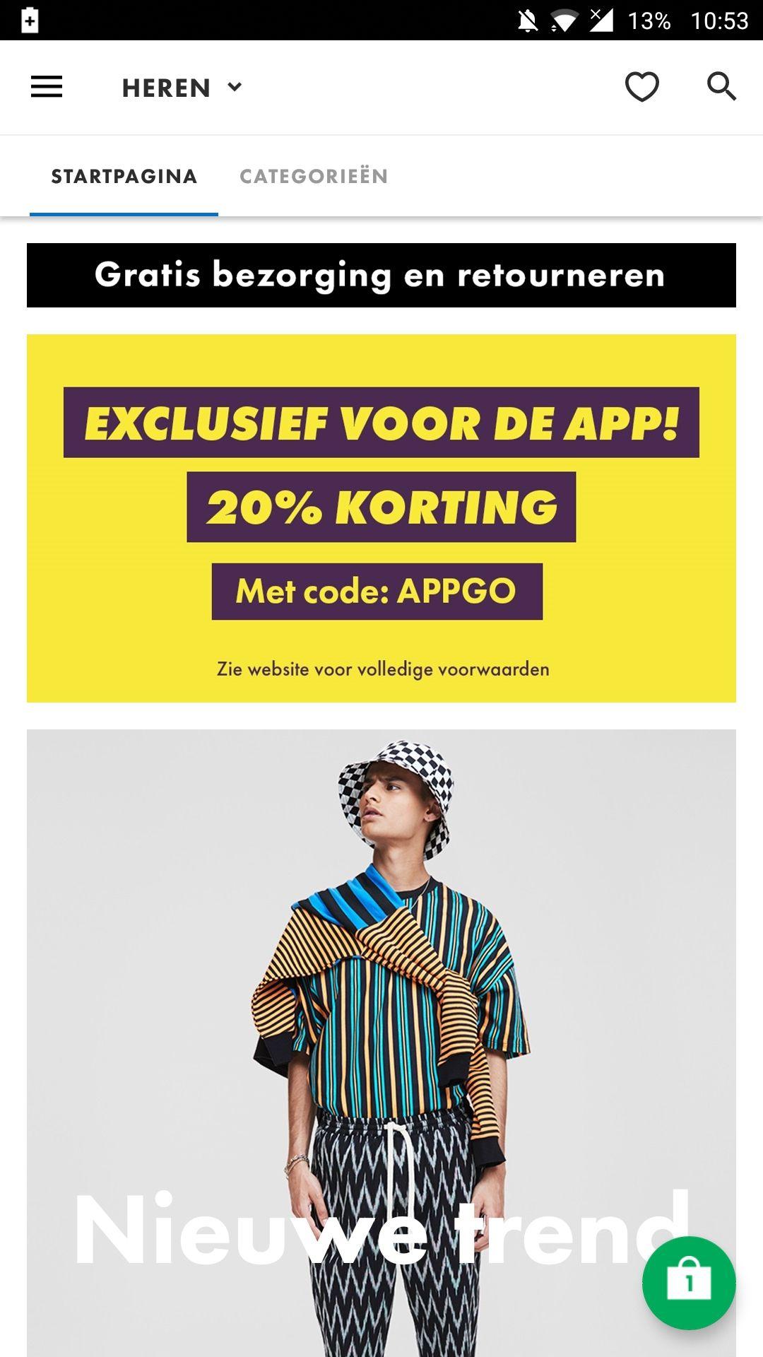 ASOS 20% Korting op alles via de app (OOK SALE+OUTLET)