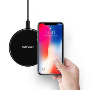 BlitzWolf BW-FWC3 5W Wireless Charger Charging Pad for iPhone X 8 Plus S8 Note 8 S9