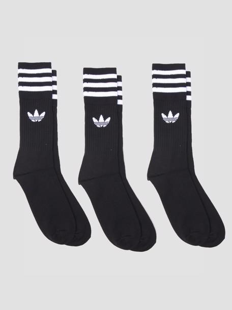 adidas Solid Crew Sock Black White van 15 euro voor 6,25 bij Freshcotton