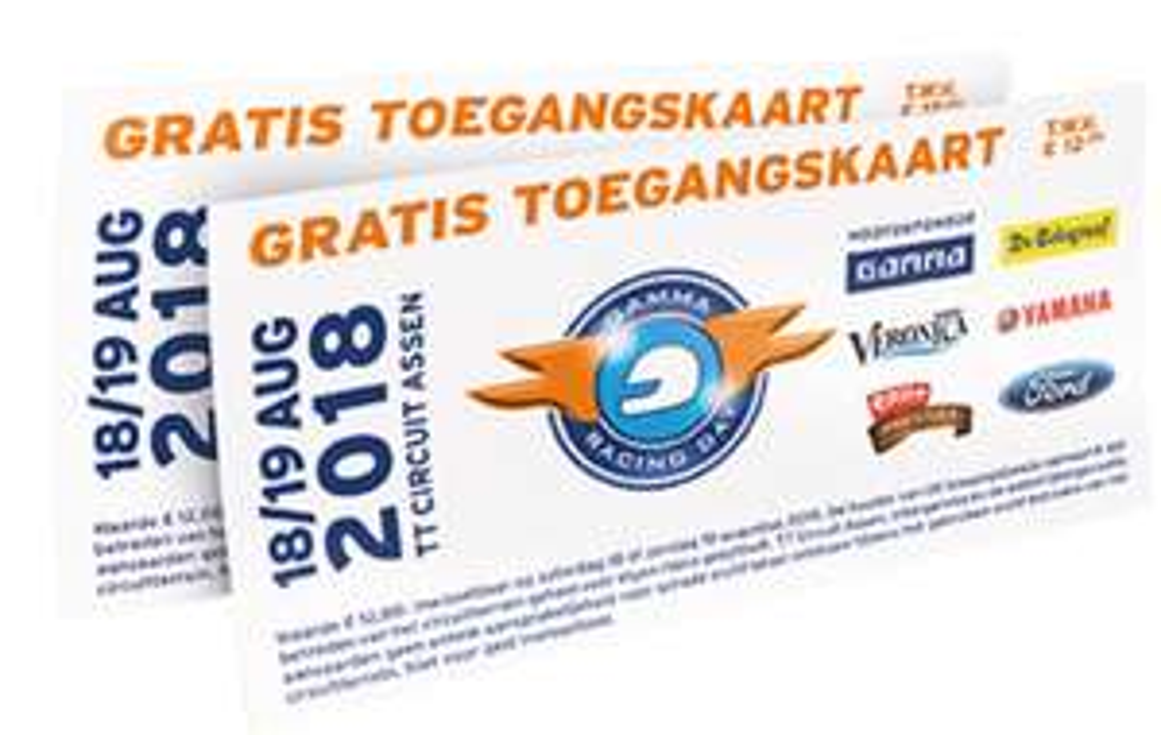 Gratis tickets Racing day TT circuit Assen t.w.v. €12,-