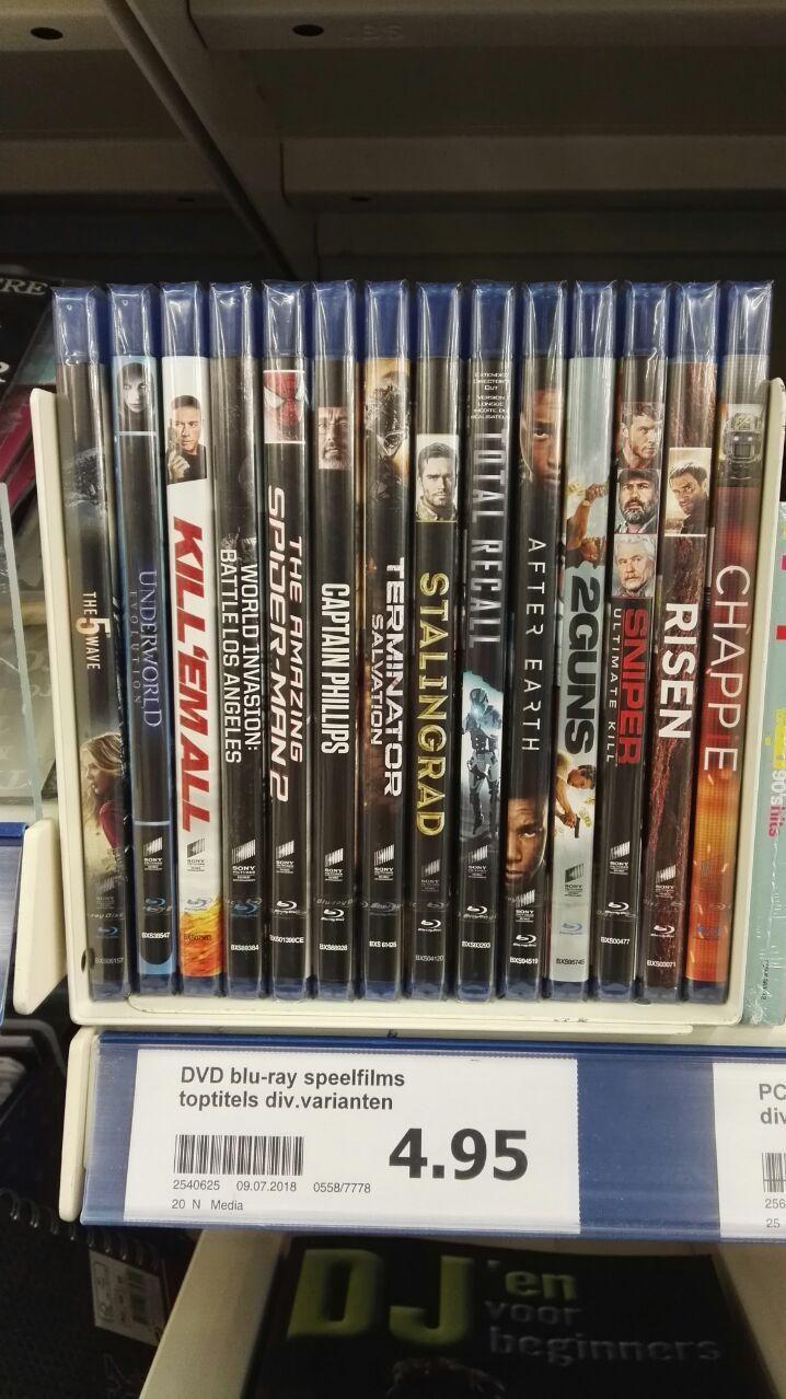 Blu-Ray Films bij Action voor 4.95€