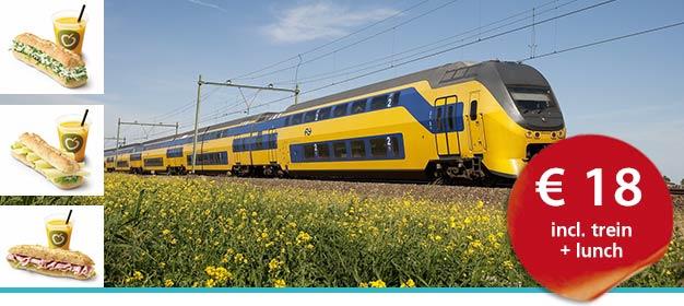 NS Dagretour trein + lunch bij La Place voor €18,- @ Spoordeelwinkel