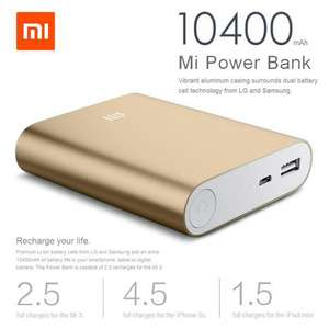 Xiaomi Powerbank 10400mAh voor €10,99 @ MiniInTheBox