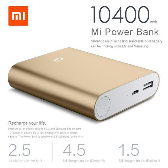 Xiaomi Powerbank 10400mAh voor €10,99 @ MiniInTheBox