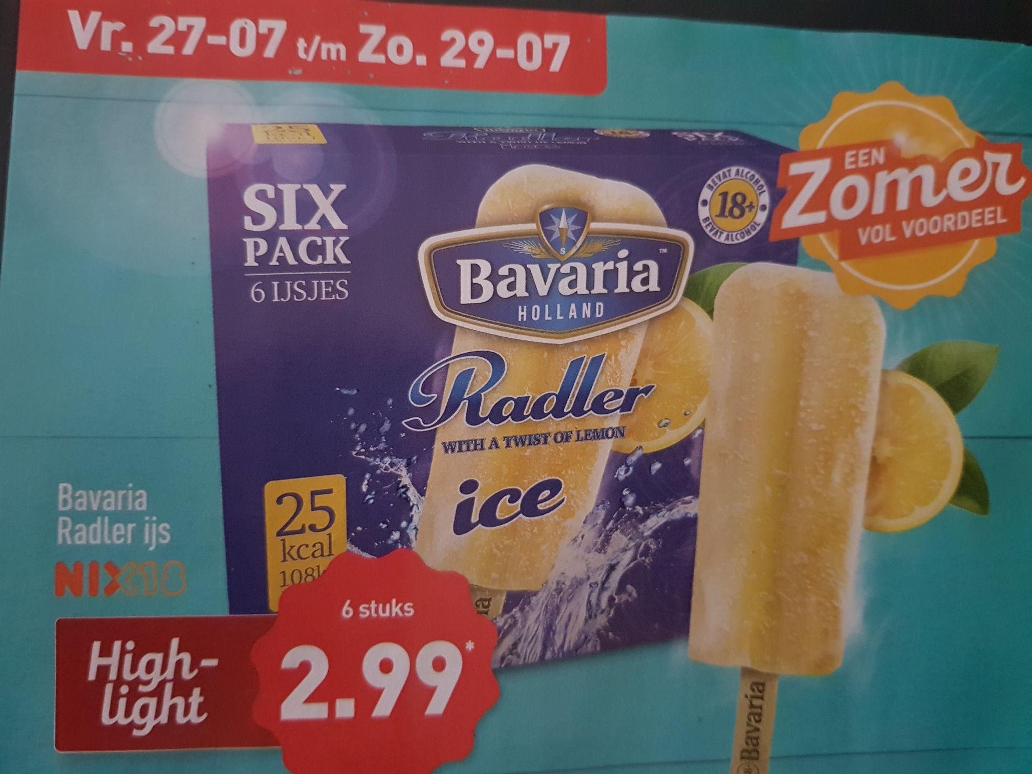 Six Pack Bavaria Radler ijs @Aldi
