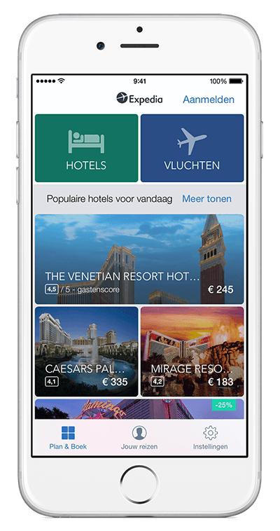 Kortingscode voor 10% korting op hotelboeking @ Expedia App