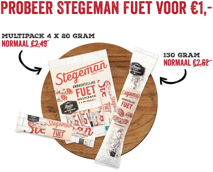 Probeer Stegeman fuet voor €1,- (Alleen bij Jumbo-winkel)