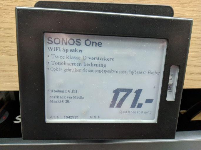 Sonos One met cashback