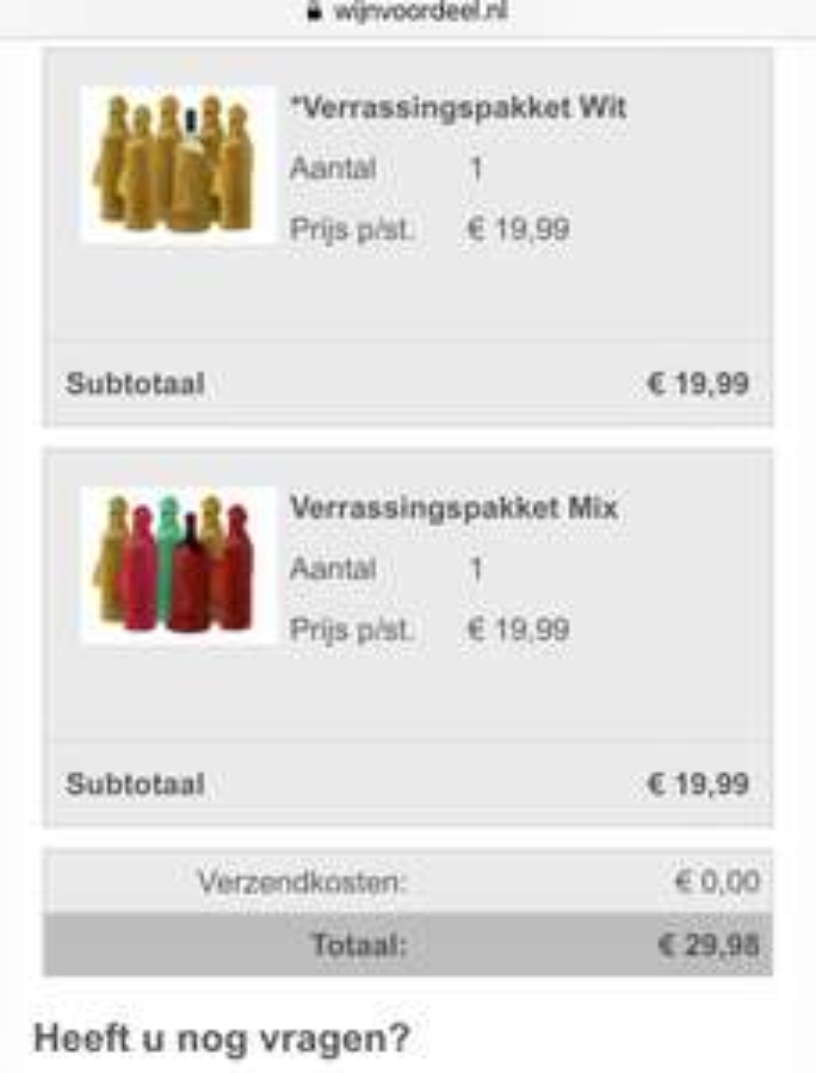 Wijnvoordeel 12 flessen wijn voor 29,98 met code WVDFONQ