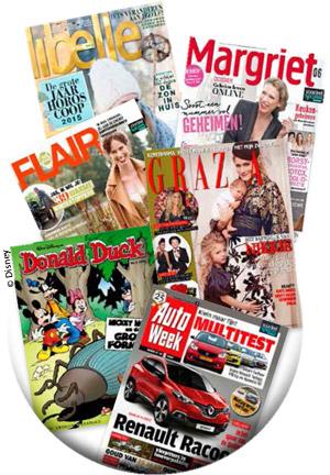 3 weken Libelle, Grazia, Margriet, Donald Duck, Flair of AutoWeek voor €2,95 @  Magazine.nl