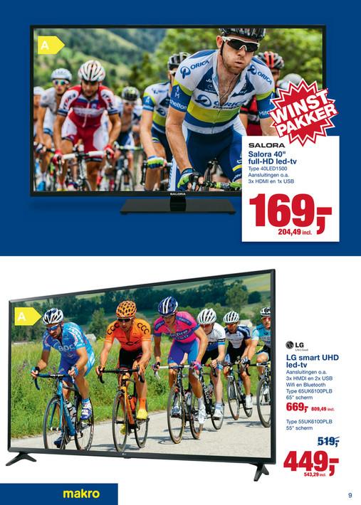 Salora 40'' Full HD televisie voor €204,49 bij Makro