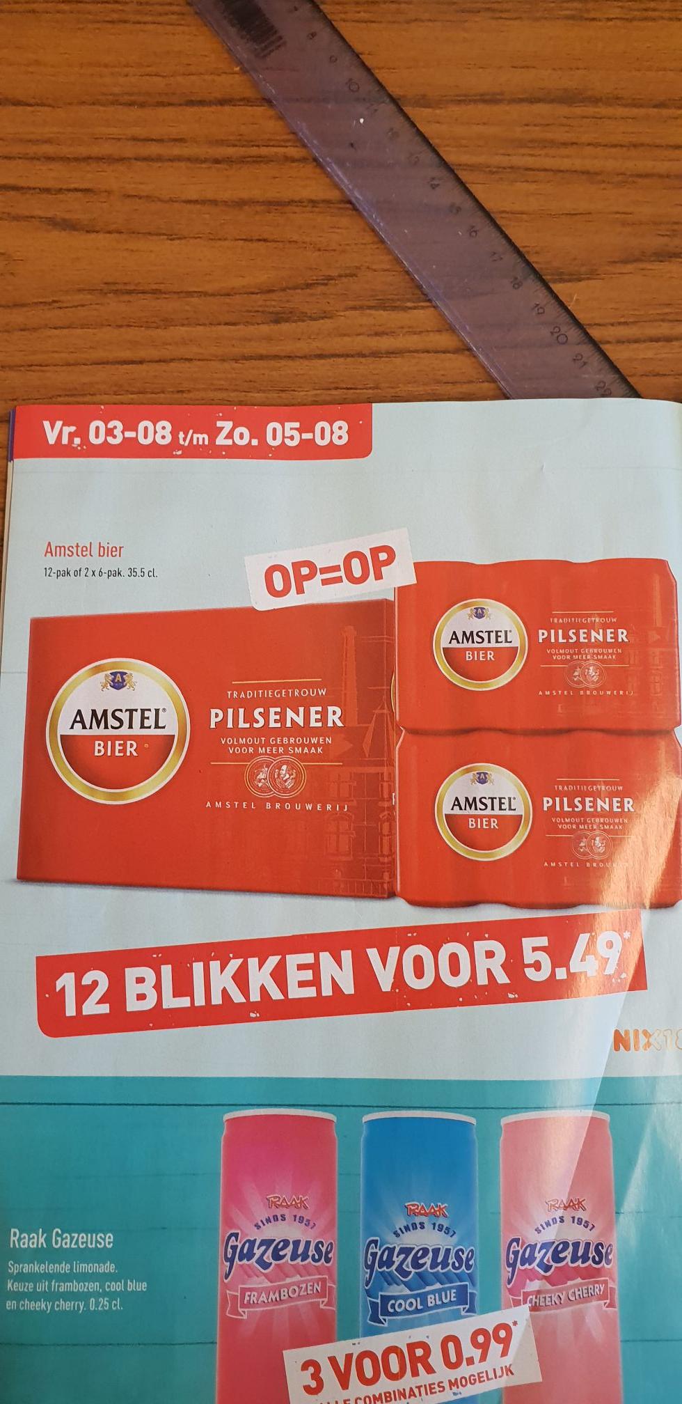 ALDI - 12 blikken Amstel bier voor 5.49 euro