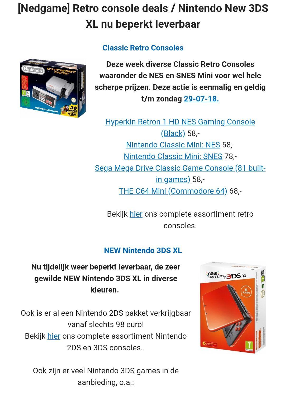 classic mini NES nu €58.-