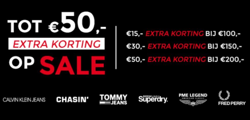 Tot €50,- extra korting + 10% cashback op Sale artikelen @ Score