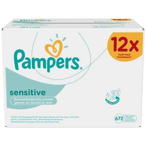 Pampers babydoekjes 12x56 st. sensitive