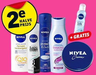 Gratis Silk mousse 200 ml t.w.v. 4.99 euro bij aankoop van 2 Nivea actieproducten + 2e halve prijs @ Kruidvat