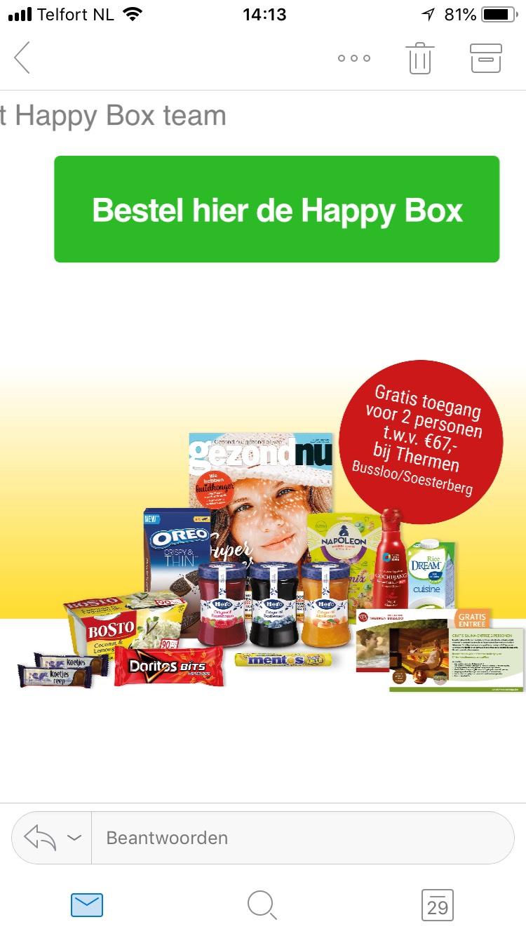 Happy box inclusief gratis toegang thermen