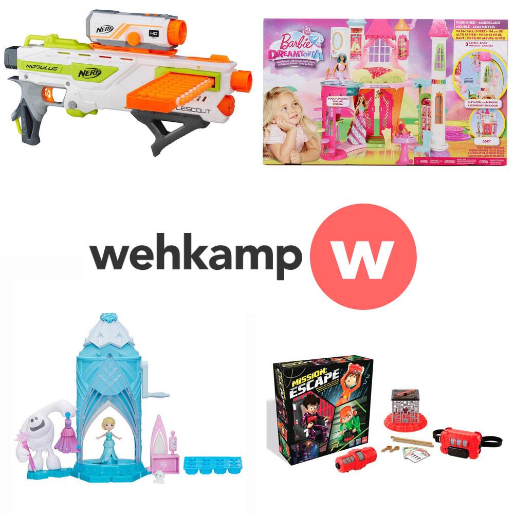 Divers speelgoed - o.a. Nerf, Barbie, Frozen, Nikko met hoge korting (tot -80%) @ Wehkamp